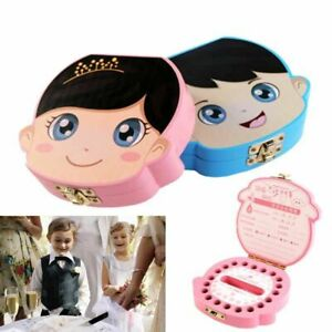 Teeth Box Wooden Milk Teeth Organizer Storage Save Souvenir Case For Kids 1 Pcs