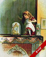 ALICE IN WONDERLAND THROUGH LOOKING GLASS LEWIS CARROL CANVAS PAINTING ART PRINT