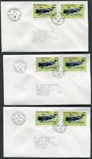 St. Vincent (25683): sperm whale on 21 village postmark/cancel covers