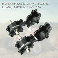 2PCS Metal Differential Gear + GearBox Shell For WLtoys 144001 1/14 4WD RC Car