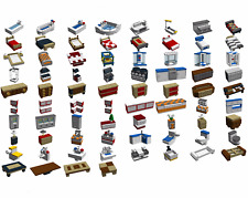 LEGO MOC CUSTOM over 100 furnitures for 10190 10224 10182.... INSTRUCTIONS ONLY!