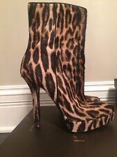 Gucci Animal Print Boots Sz 39.5