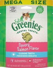 New listing Feline Greenies Dental Treat Savory Salmon 4.6oz