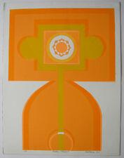 Bob click GOLDEN Shadows ORIG serigrafie in giallo e arancione 1969 firmato