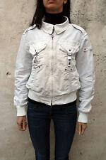 PEUTEREY ARCIMBOLDI Blouse Jacket Coat Nylon Cream Ladies Nylon IT 48 Uk 16 L XL