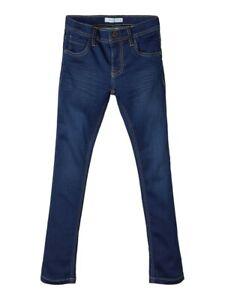 NAME IT Stretch Denim Jeans Hose NKMRoss DNMThayer dunkelblau Größe 92 bis 164