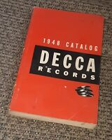 DECCA Records 1948 Catalog VINTAGE BOOK albums MUSIC HISTORY