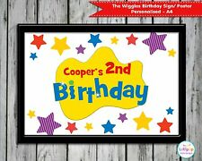 THE WIGGLES PERSONALISED BIRTHDAY SIGN POSTER WELCOME SIGN DECORATION WALL ART