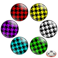 "Houndstooth Pattern 1.25"" Pinback Button BADGE SET Novelty Pins Mini Gift 32 mm"