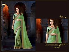 Saree Unstitched Banglory Silk & Velvet Fabric Fabulous PartyWear Wedding 1553