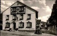 Britzingen bei Badenweiler s/w Postkarte 1960 Straßenpartie am Gasthaus Hirschen