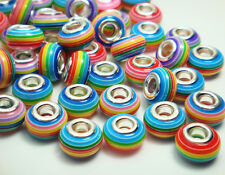50pcs Mix murano DIY Jewelry bead LAMPWORK fit European Bracelet charm beads A7