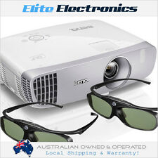 BENQ W1110 + 2x 3D GLASSES DLP FULL HD 1080P HOME CINEMA PROJECTOR SHORT THROW