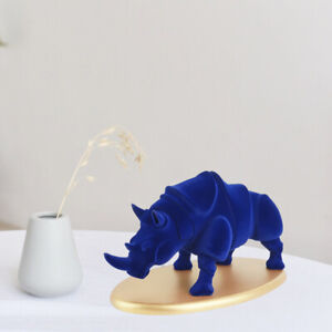 Nordic Rhino Sculpture Figurine Art Animal Statue Ornaments Gifts for Home