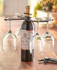 Iron Wine Bottle Stemware Wine Glass Holder Barware Dining Parties Unique Gift!