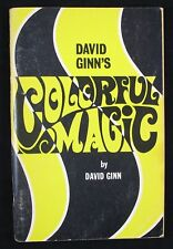 Vintage David Ginn's Colorful Magic 1969 First Edition 1st Ed Signed Autographed
