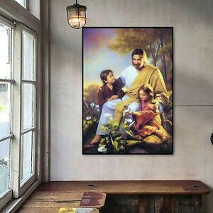 "Jesus Teach Child Oil Painting Art Silk Canvas Poster Decor Unframed 16""x24"""