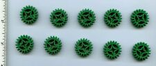 LEGO x 10 Green Technic, Gear 20 Tooth Double Bevel NEW Mindstorms