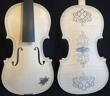 Carving back/top unfinished song violin 4/4,great inlay double purfling #11603