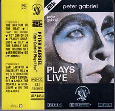 "K 7 AUDIO (TAPE)  PETER GABRIEL  ""PLAYS LIVE"""