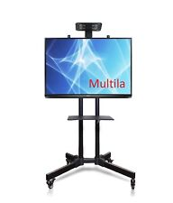 YS1500-B TV-Standfuss aus Stahl mobil schwarz für Bildschirme 27-65 Zoll