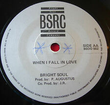 "Papa Levi Wine & Go Round 7""Dancehall BSRC Bright Soul When I Fall In Love VINYL"