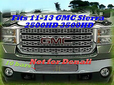 11-13 2011 2012 2013 GMC Sierra 2500 2500HD 3500 3500HD Center Bumper Grille1PC