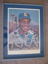 KEN GRIFFEY JR. AUTOGRAPHED SIGNED LITHOGRAPH MATTED & FRAMED LIMITED #260/500