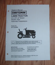 CRAFTSMAN 917.272464 LAWN TRACTOR OWNERS MANUAL WITH ILLUSTRATED PARTS LIST