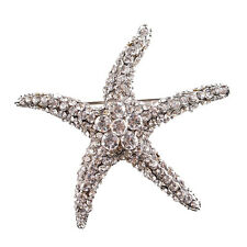 Optional Adorable Blue Crystal Rhinestone Starfish Brooches for women wedding FO