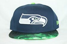 New Era SEATTLE SEAHAWKS NFL Pattern Optic 9Fifty 950 Snap Back Cap Hat OTC NWT