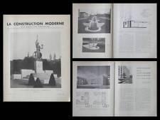 CONSTRUCTION MODERNE 1936 FONTAINE PARIS, RUE MOLITOR, CITE UNIVERSITAIRE ROME