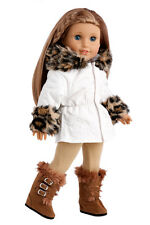 Winter Fun - Doll Clothes for American Girl, Parka Coat Fur Trim Leggings Boots