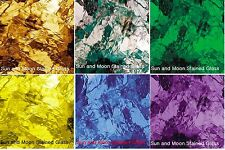 "6 Artique Stained Glass Sheets (8""X10"") Spectrum Stained Glass Pack"
