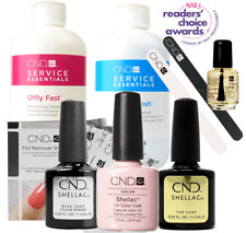 CND Shellac Starter Kit, Top/Base/Essentials/Color Clearly Pink