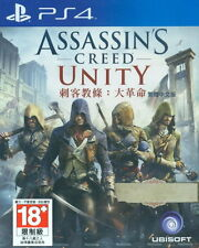 New Sony PS4 Games Assassin's Creed Unity Asia HK Version Chinese/English Subs