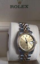 100% Rolex  Solid 18k & Steel Two tone  midsize 31mm swiss automatic watch