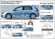 Zierleiste Seitenschutz Türschutz Leisten für VW Golf VI Schrägheck 2008-2011