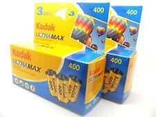 6 x Kodak Ultramax 400 35 mm 24exp colore a buon mercato film di 1st classe Royal mail