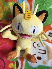 """New 2016 TAKARA TOMY Pokemon Meowth Plush Doll 7"""" Toy"""