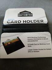 Samsonite RFID Card Holder Wallet - Black - BRAND NEW
