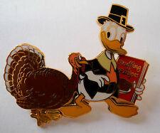 Disney Pin 17164: DLR Cast Exclusive Thanksgiving 2002 Donald & Turkey Bobble LE