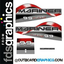 Mariner 9.9hp Lightning outboard graphics/sticker kit