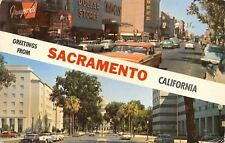 Sacramento CA Grayson's~Payless Drugs~$ Stores~Arden's~Capitol~Nice 1950s Cars