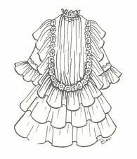 """SEWING PATTERN fit  20-21"""" DOLL DRESS Antique Design Victorian German French 646"""