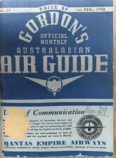 GORDON'S OFFICIAL MONTHLY AUSTRALASIAN AIR GUIDE 1sr FEB. 1942