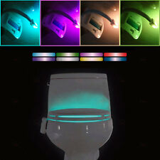 Newest 8 Colors Body Sensing Sensor Automatic LED Motion Toilet Bowl Night Light