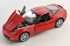 Spedizione LAMPO CHEVROLET CORVETTE z06 ROSSO/RED 1:24 Welly Modello Auto Nuovo & OVP