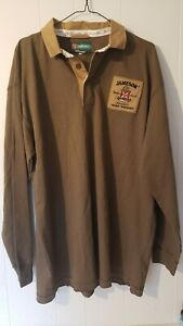 Jameson Irish Whiskey Long Sleeve Polo Rugby Shirt - Men's XXL - 2XL