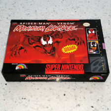 MAXIMUM CARNAGE Super Nintendo - Excellent - 11 PICS - FREE SHIPPING